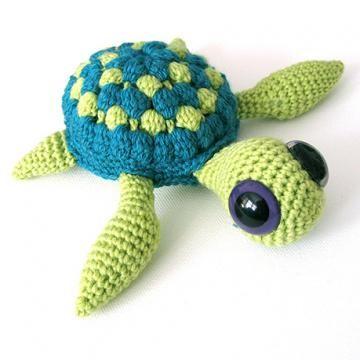 Marty the Sea Turtle amigurumi crochet pattern by Irene Strange