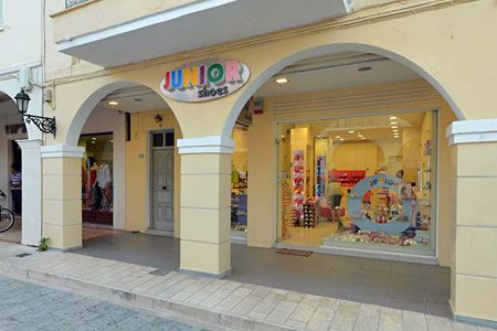 Junior Shoes is located in Zakynthos Town, Alexandrou Roma 90 street.