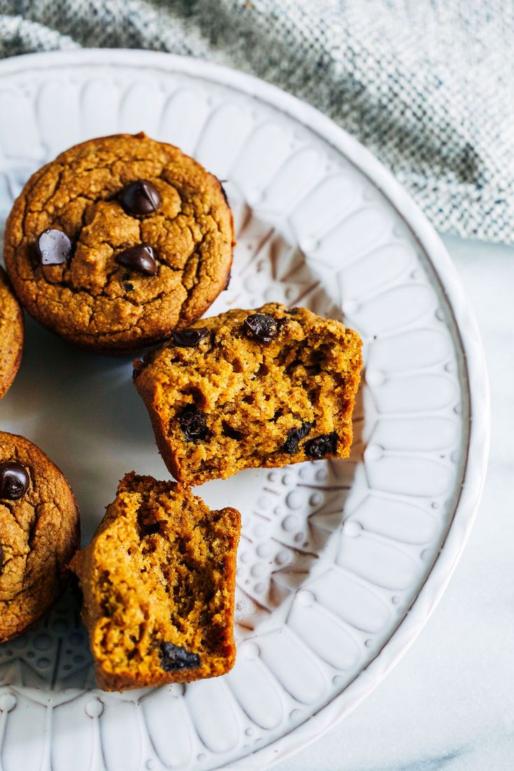 Healthy Vegan and Gluten-free Pumpkin Muffins