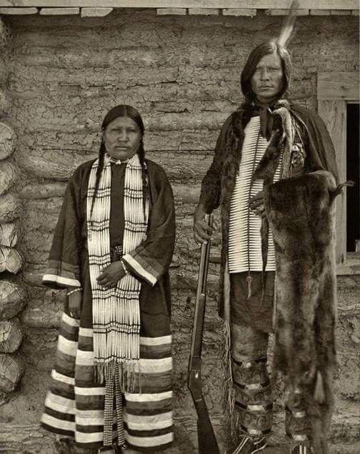 Муж и жена, хункпапа-сиу. 1895