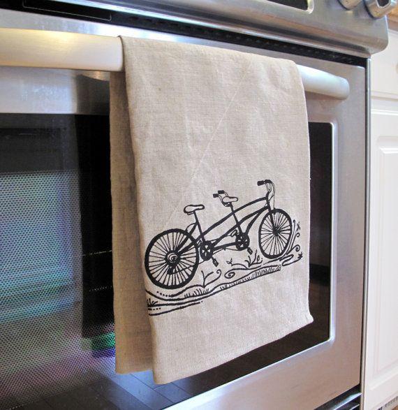 Linen Tea Towel Natural Beige Linen with por SweetnatureDesigns