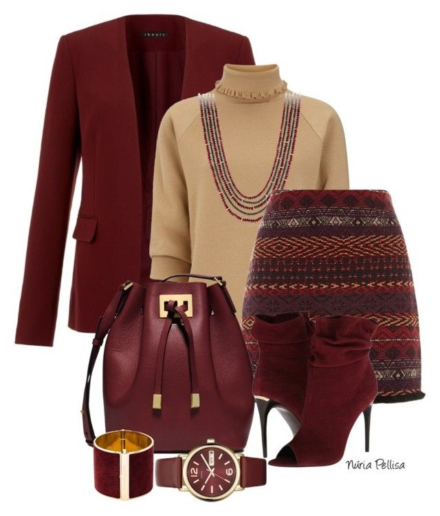 """Burgundy"" by nuria-pellisa-salvado ❤ liked on Polyvore featuring Theory, J.W. Anderson, David Yurman, Michael Kors, Burberry, Dsquared2 and Marc by Marc Jacobs"