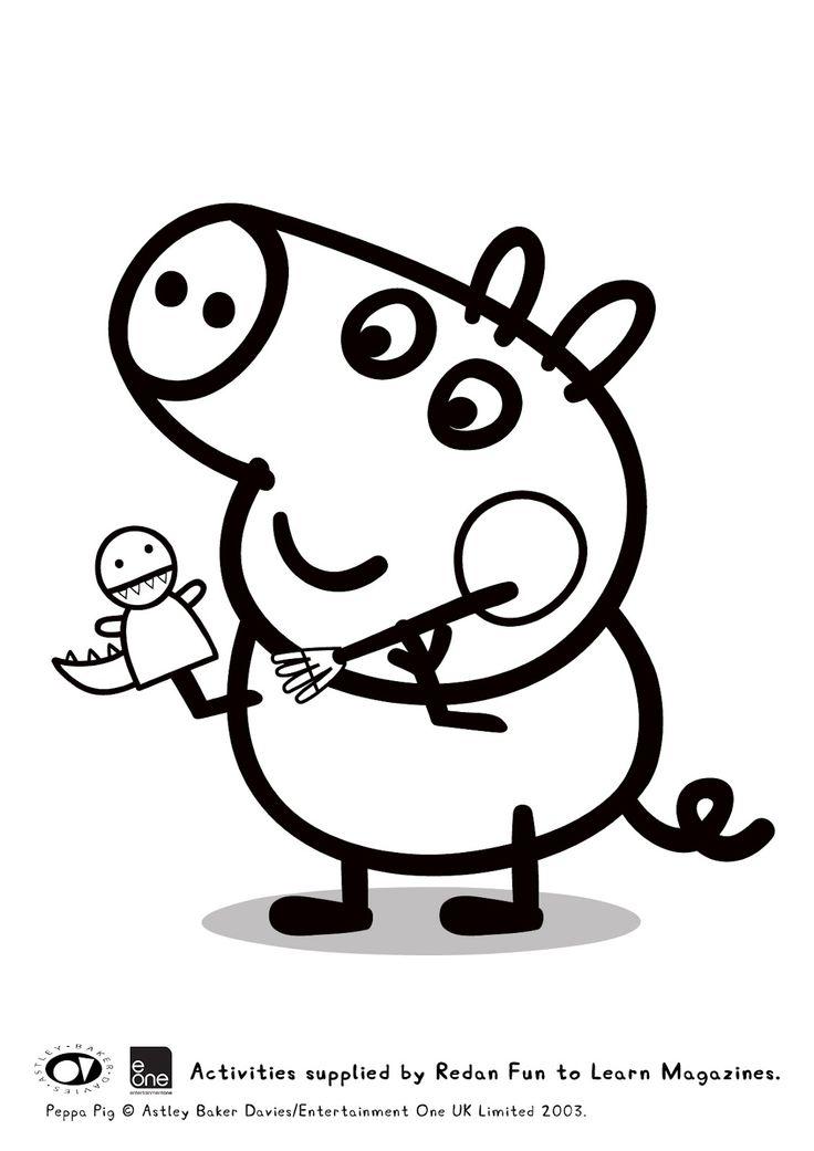 Guarda tutti i disegni da colorare di Peppa Pig www.bambinievacanze.com