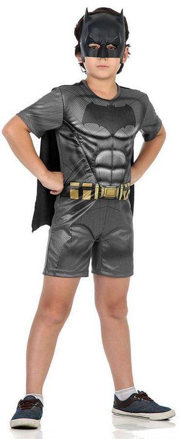 Fantasia Batman Pop com Músculos do Filme Batman X Super Homem.