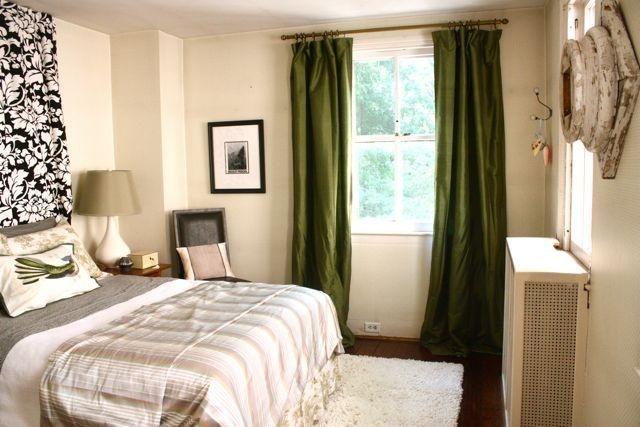 Shower curtain headboard.