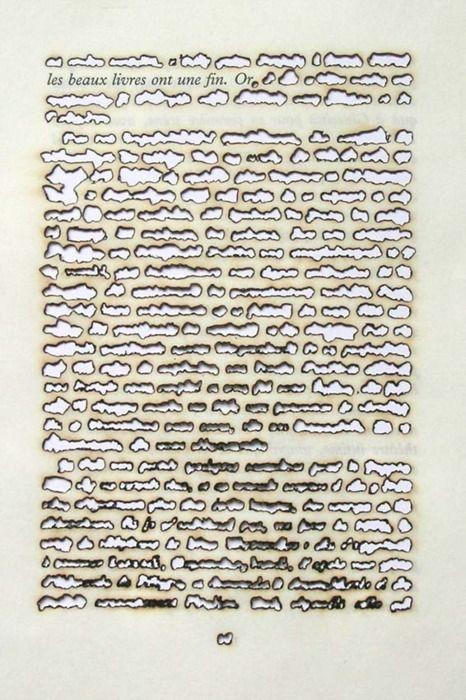 Remo Albert Alig, Fine Books Have a Purpose, 2005 Sunlight on Paper (defaced book)