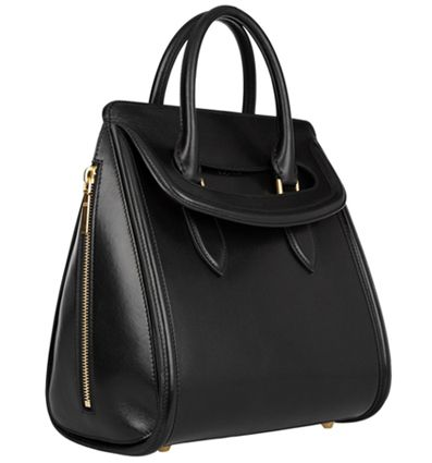 Alexander McQueen Heroine Leather Tote. Leather Tote BagsLeather TotesBlack  ...