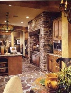Stone floor and wall