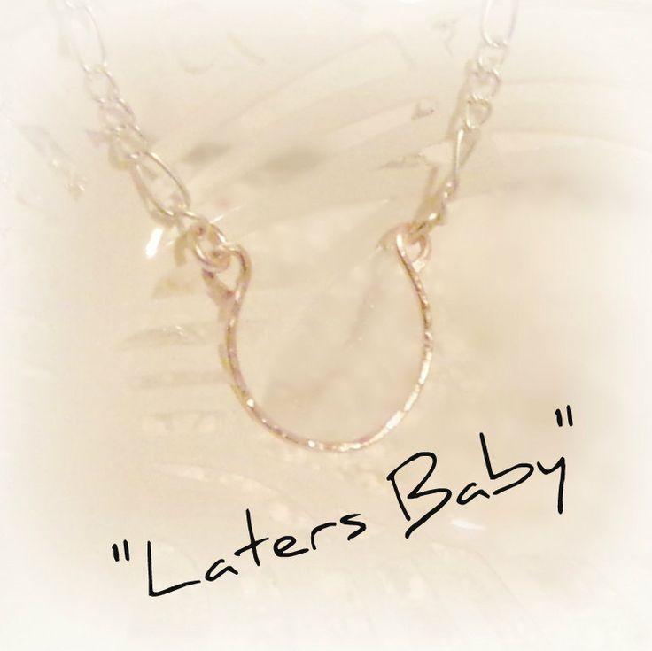 Laters Baby, Ana's Horseshoe Necklace, Fifty Shades of Grey Inspired Jewelry, Ana Steele Necklace, Dakota Johnson's Necklace, 50 Shades by JNTCreations on Etsy