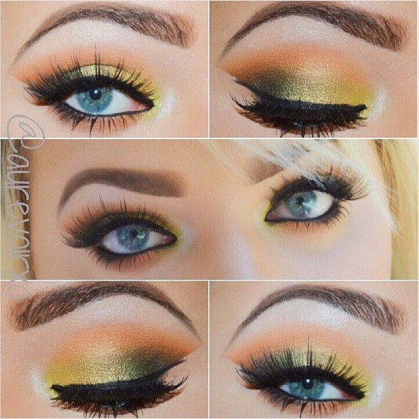 All Mac *Lid: Goldmine, Sumputous Olive, Humid *Crease: Rule *Outer Corner: Saddle, Carbon *Tear Duct: Lucky Green around tear duct, Phloof! in the year duct and under brow arch *Highlight: Vanilla *Eyelashes: Stacked # 7s and Ardell - Hotties #Padgram