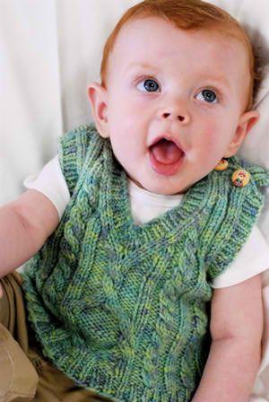 ~inspiration~  knitted Pembroke Baby Vest