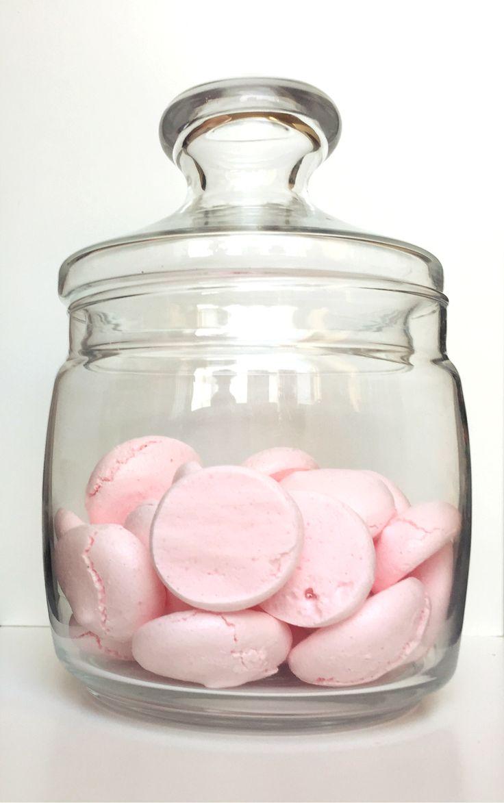 Vegan Meringue! Sooo delicious and soooo pink!