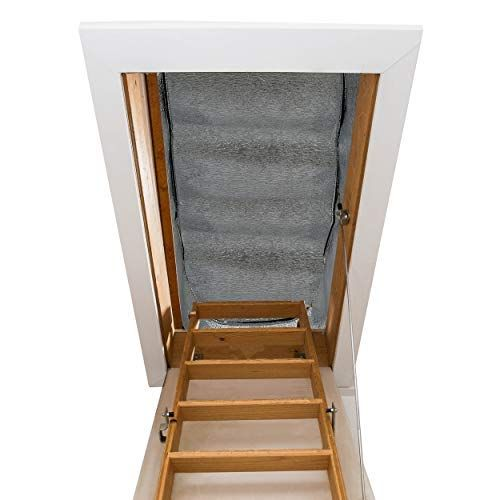 Attic Stairway Insulator 25 X 54 X 11 R Value Of 14 5 Fireproof Attic Stairs Insulation Cover Attic Stairs Attic Stair Insulation Attic Door Insulation