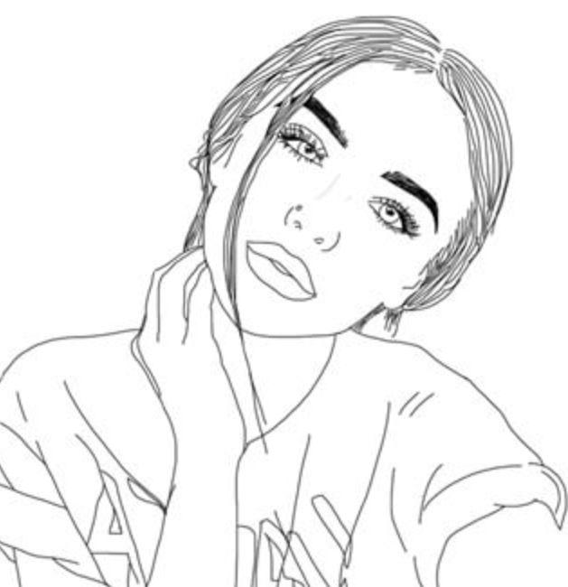 36 Best Outline Tumblr Images On Pinterest Girl Drawings