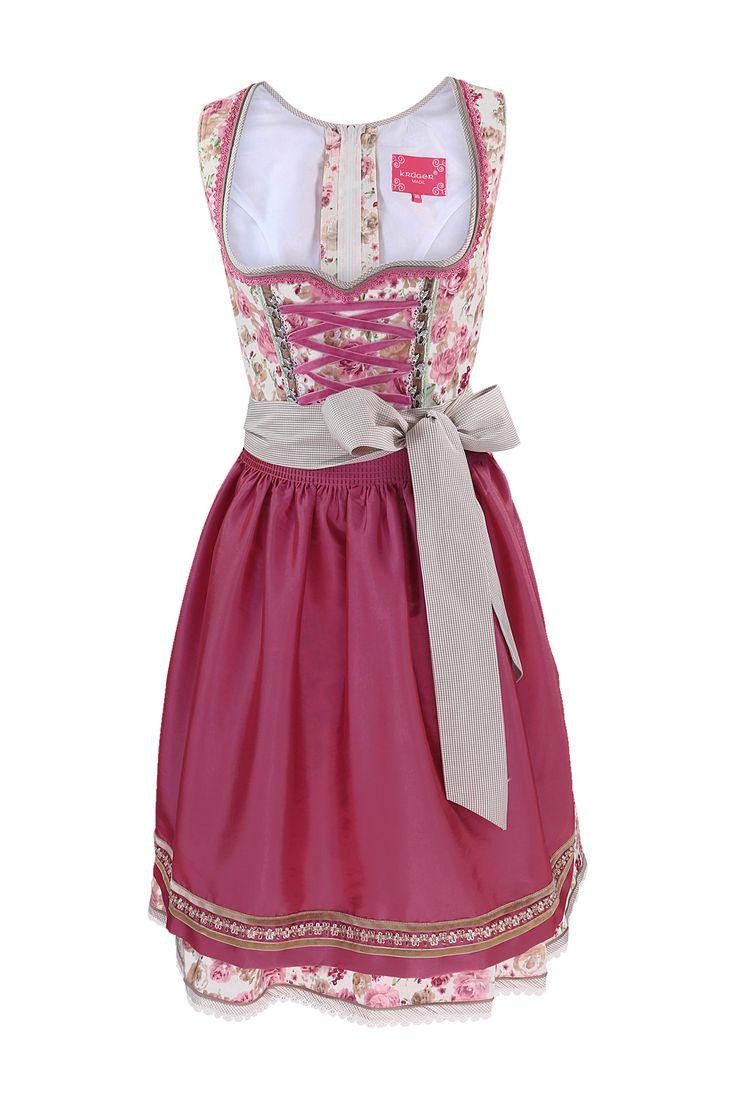Romantisches Midi-Dirndl in rosa von Krüger Madl