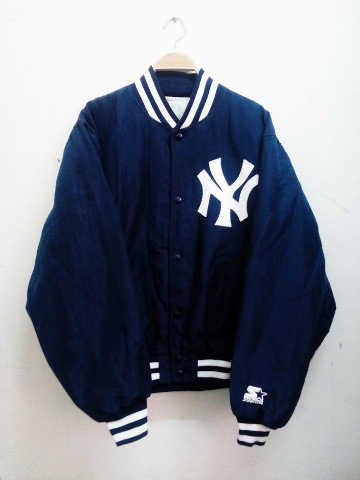 Vintage Starter Diamond Collection New York Yankees Nylon Varsity Jacket by MalayaTriftZone on Etsy