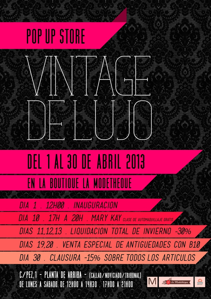 Pop Up Store Vintage de Lujo