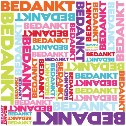 Bedankkaart typografie 1
