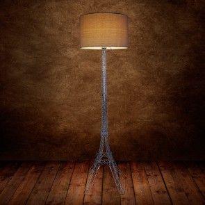 [lux.pro] Lámpara de pie moderna en tono crema y con pie con forma de la torre Eiffel - E27 (150cm-Ø 40,0 cm) - 91,40 €