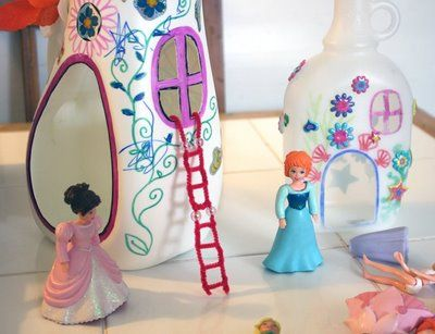 Milk carton doll houses Filth Wizardry: Fairy houses and fairy wings for