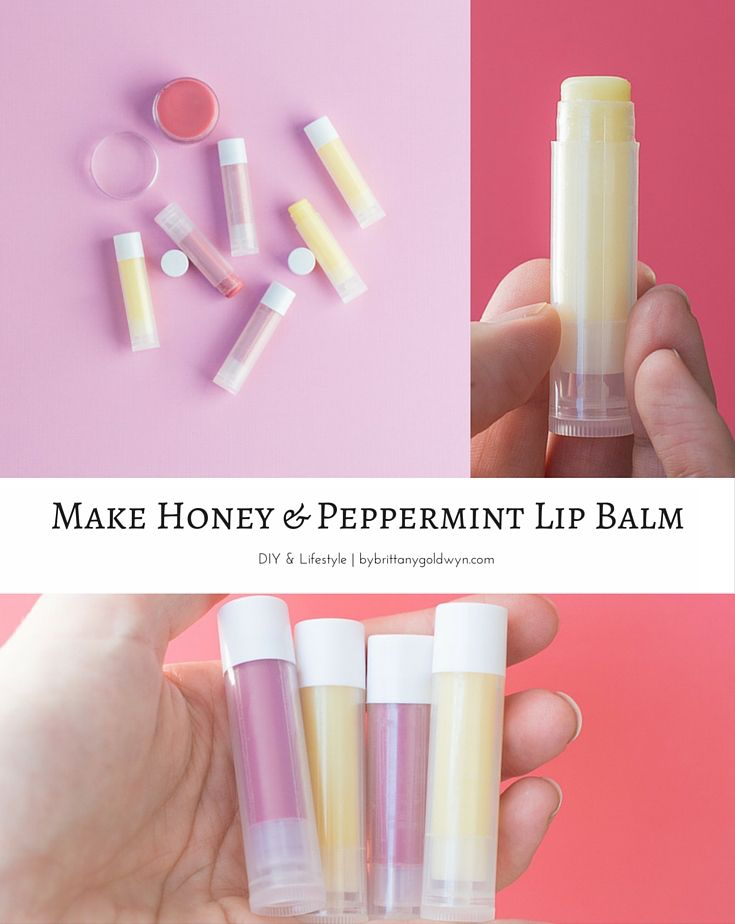 I keep this homemade lip balm at my desk, in my purse, and by my bed all the time. Learn how you can make it with just a handful of ingredients! | DIY, DIY lip balm, make homemade lip balm, make beeswax lip balm, coconut oil lip balm