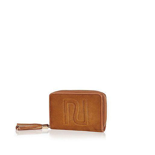 Tan RI faux suede purse - purses - bags / purses - women