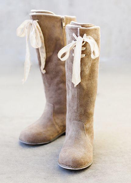 Joyfolie Brown Suede Boot for Girls $89.00