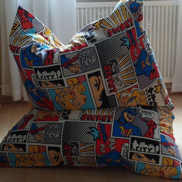 Sitzsäcke - Sitzsack XXL ** COMIC ** 100x140cm Handarbeit - ein Designerstück von Biene2014-Sabine bei DaWanda