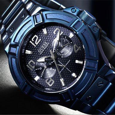 Uurwerk Quartz   Garantie 24 maanden   Materiaal Band Blauw Metaal   Materiaal Kast Edelstaal   Waterbestendig Ja tot een diepte van 100 Meter   Kastvorm Rond   Diameter horlogekast 45 mm   Dames / Heren