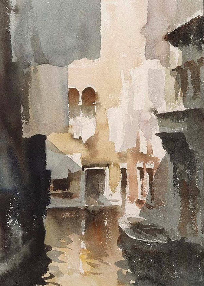 Edward Seago (1910 — 1974, UK) watercolour.