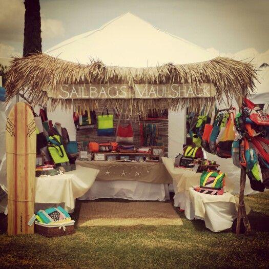 Our Sailbags Maui beach shack booth at Seabury Hall Craft Fair 2015.