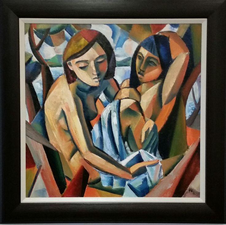 hennie niemann jnr painting, friends, 2016 exhibition , cape town