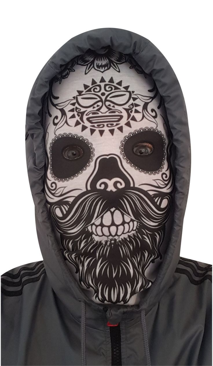 Pull up Hipster Candy Sugar Skull Tribal Sun scarf mask full or half face snood by MintDoodles on Etsy