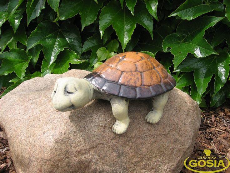 Żółw regałowy - figurka ceramiczna ogrodowa