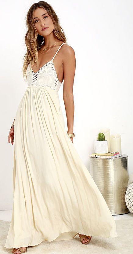 1000  ideas about Cream Summer Dresses on Pinterest | Summer ...