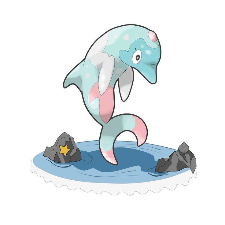 """Conozcan a...DELFAUTA de tipo Agua/Psíquico... -Primero agradezco a @krotonet90 por participar y aportar a la página con el animal que eligió para éste fakemon, siendo un Delfín.- Es la evolución de Nardial con ayuda de la """"perla grande rosa"""". El poder que tiene dentro la perla ocaciona que Delfauta adquiera el tipo psíquico. La perla no desaparece pero pasa a formar parte de su cuerpo, dándoles sus poderes psíquicos.  Los Delfauta viven en pequeños grupos de seis o cinco de ellos, a veces…"""
