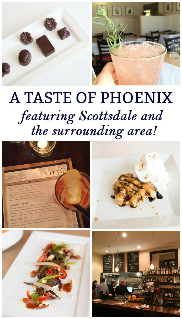 Experience a taste of Phoenix, Arizona and the surrounding area with some of my favorite foodie hot spots! Don't miss Bink's Midtown restaurant, Talavera restaurant, the Chocolate Tour of Scottsdale and more!