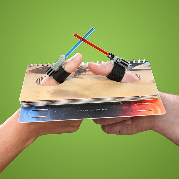 Um... Yes!! Star Wars Thumb Wrestling Kit Has You Fighting With Small Lightsabers