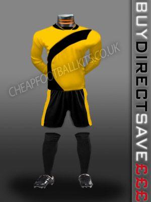 Attack Discount Football Kit Yellow/Black