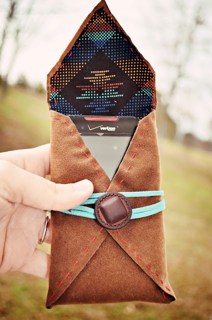 DIY faux leather phone case