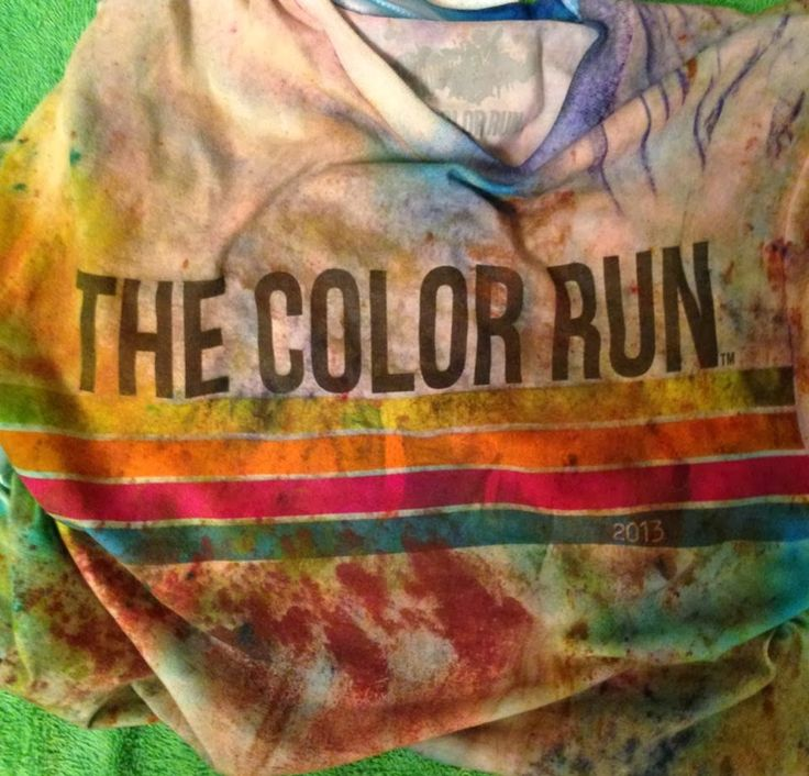 IMPRACTICAL COMPOSITION: how to keep your color run shirt stained or how to keep the color on your color run shirt