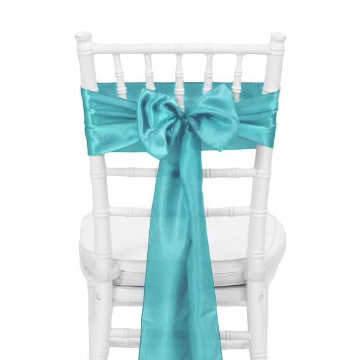 Satin Chair Sash   Turquoise Blue [404116] : Wholesale Wedding Supplies, Discount  Wedding