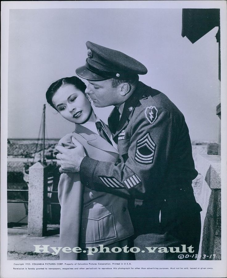 CA193 1955 Orig Photo ALDO RAY Kissing Pretty Actress Three Stripes In The Sun | Collectibles, Photographic Images, Contemporary (1940-Now) | eBay!