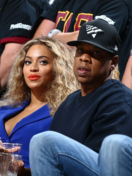 Beyoncé and Jay-Z couldn't keep their hands off each other at Thursday's NBA Finals game in Cleveland Ohio