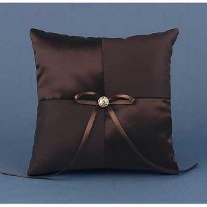 Brown Mocha Dream Wedding Ring Bearer Pillow