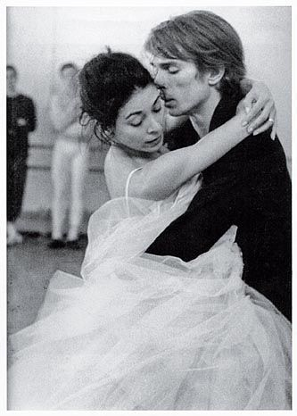 "Margot Fonteyn & Rudolf Nureyev rehearse Marguerite & Armand 1963. When she dies, Armand does not yet realize that she has gone, and only knows when her hand falls from his. Many commented that it was ""like a private moment that they didn't want to intrude on."