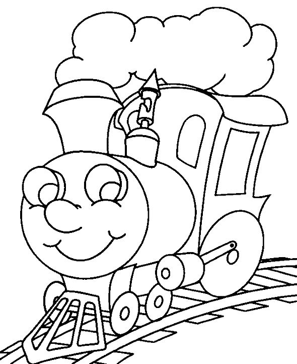 Steam Train Color Page Transportation Coloring Pages Plate