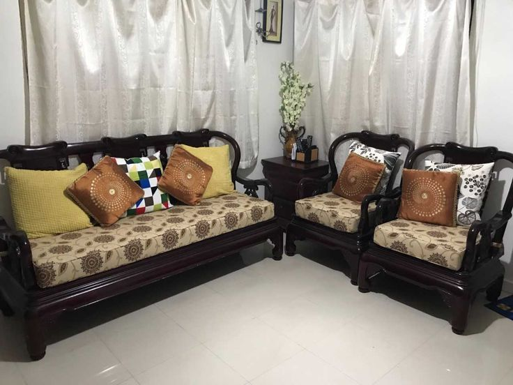 Ram shared a photo of the new cushions on their sofa.  #outdoorcushions