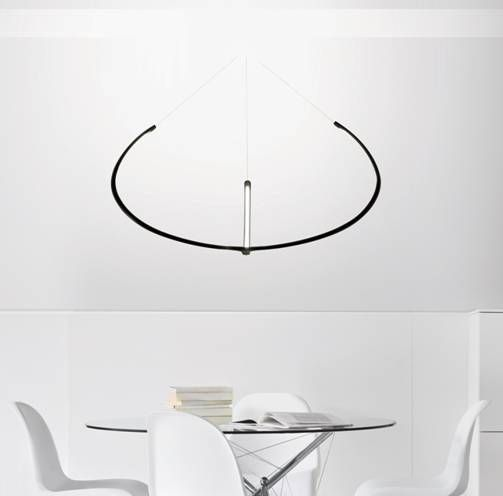 NEMO – Alya by Gabriele Rosa.    Light pendant LED lamp with diffused lighting. Arms in extruded aluminium, central body in die-casted aluminium. Diffuser in opaline methacrylate. Available in white or matt black. Dimmable also with remote control.