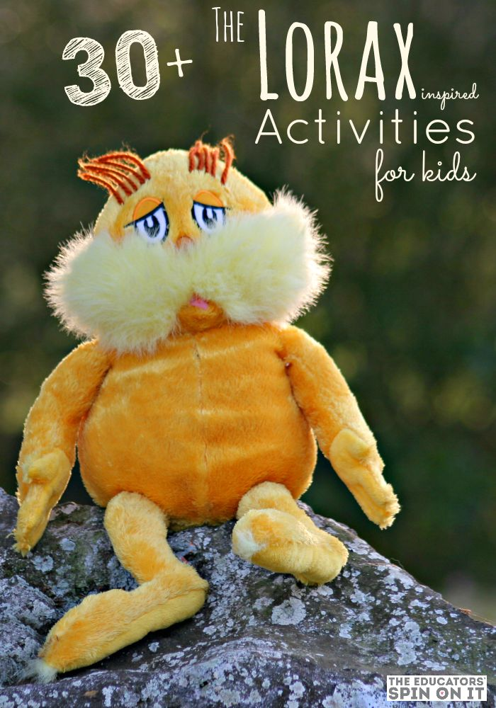 30+ Crafts and Activities inspired by The Lorax by Dr. Seuss
